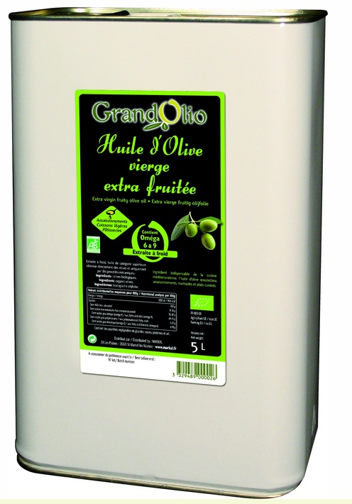 Huile d'olive vierge extra fruitée - 5l